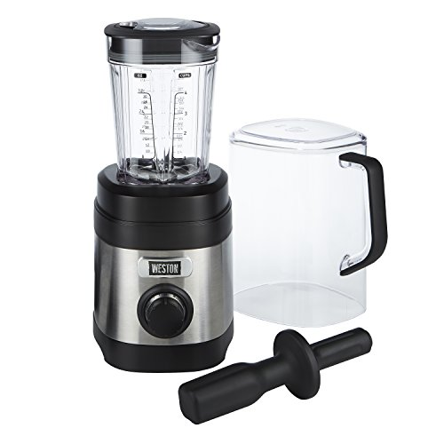 Lowest Price! Weston Sound Shield Pro Series 1.6hp Blender with 32oz Jar, Variable Speed Dial for Pu...