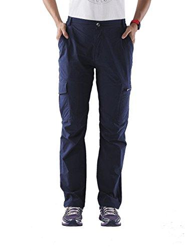 "Nonwe Women's Quick Drying Tactical Cargo Pants Blue Granite L/30.5"" Inseam"