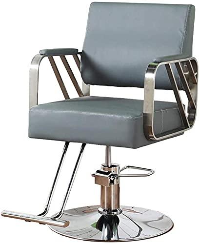 HZYDD Tabouret Bar Simplicity Barber Chair Salon Beauty Shampooing Shampooing Coiffeur Professionnel Pivotant Équipement de Coiffeur hydraulique, Bleu & Or (Couleur: Bleu + Or) (Color : Blue+Silver)