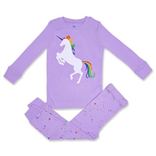 Girls Pajamas UNICORN Lavender 2 Piece 100% Super Soft Cotton 5Y