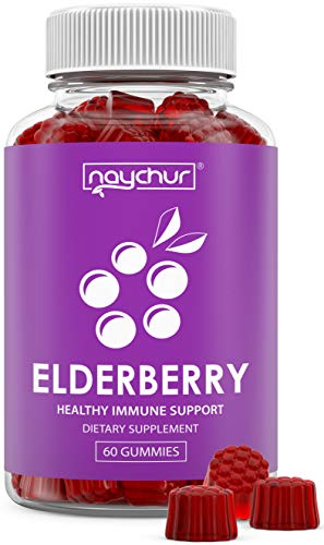 Elderberry Gummies for Kids Adults - Immune System Booster - Zinc Vitamin C Gummies for Adults Kids - Sambucus Nigra Black Elderberry Gummy Immune Support Cold Flu Immunity Booster - Raspberry Flavor