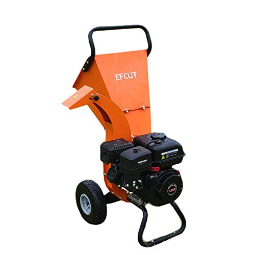 EFCUT C30 Mini Wood Chipper Shredder Mulcher 7 HP 212cc Heavy Duty Engine Gas Powered 3' Max Wood Diameter Capacity Reduction Rate 15:1, EPA Certified