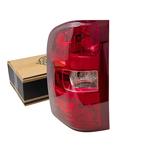 Replacement Driver Tail Light Lens Compatible with 2007-2013 Silverado Pickup Truck 25958482