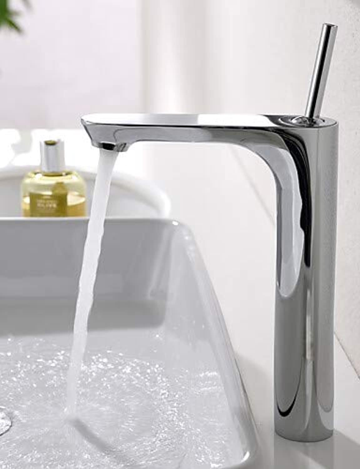 Mainstream home LPZSQ Tap Single Handle Mixer Faucet Tall Bathroom Sink Faucet Chrome Finish  1196