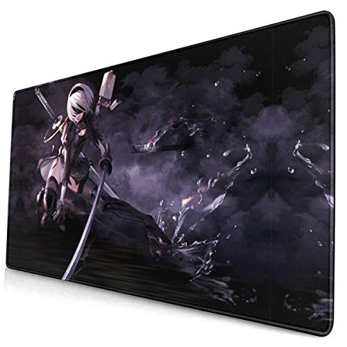 Computer Gaming 2B Nier Mouse Pad Mouse Mat Non-Slip Rubber Base Fashion Mouse Pads for Computers Large Gaming (75Mmx40Mmx3Mm)
