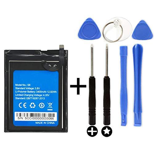 Bateria para HomTom S8 + Kit Herramientas/Tools | Capacidad 3400mAh