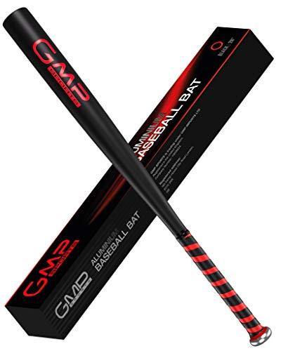 GMP SPORTS – Baseballschläger 28-Zoll Leicht Aluminium Bat Fur Outdoors & Rounders Order Selbstverteidigung Mit Carry Case (MATT-SCHWARZ)