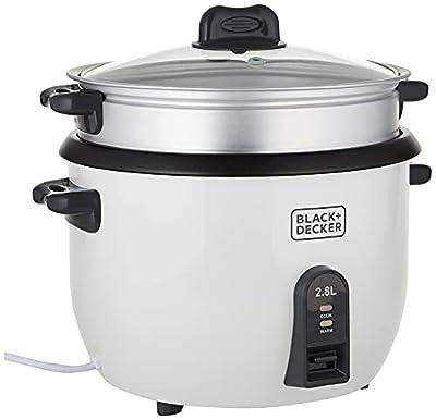 Black & Decker RC2850 1100W 2.8 L 11.8 Cup Rice Cooker (Non-USA Compliant), White, standard