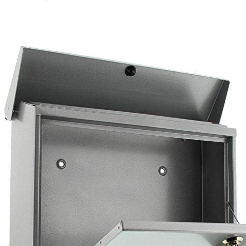 BURG-WÄCHTER Set Vario 86720 Si Briefkasten-Set mit Zeitungsbox A4 Einwurf-Format, Verzinkter Stahl, Set Vario Si, Silber - 3