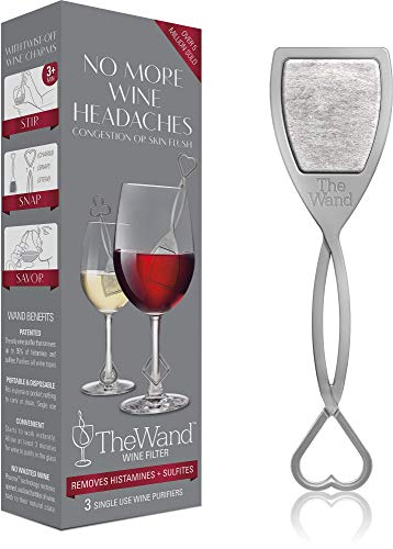 The Wand by PureWine | Removes Histamines & Sulfite Preservatives, By-the-Glass | No More Wine Headaches (3-pack)