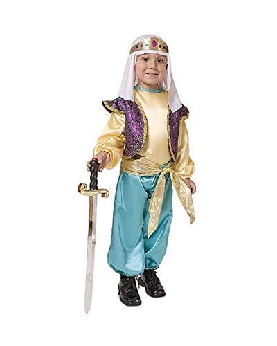 Dress Up America 551-T2 arabischer Sultan Jungen Costume, Mehrfarbig, Größe 1-2 Jahre (Taille: 61-66, Höhe: 84-91 cm)