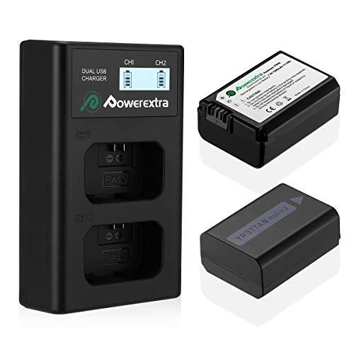 Premium accu Data chip para Sony handycam fdr-ax100e fdr-ax53