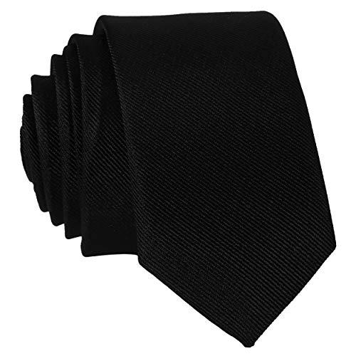 DonDon Cravatta Uomo nera 5 cm di larghezza