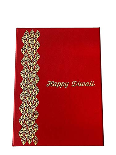 Crack of Dawn Crafts Crack of Dawn Crafts 3 Layered Diwali Explosion Gift Box - Festive Red Greeting Card(Red, Pack of 1)