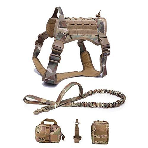 PPKZY Servicio Chaleco para Perros Transpirable Entrenamiento Militar Ropa para Perros K9 Sling Tamaño Ajustable Tamaño de Caballa Caza Dog Ejercicio Arnés (Color : Camouflag, Size : 3-L)