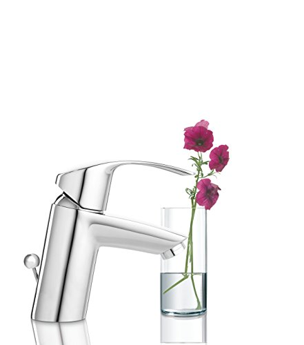 Grohe Eurosmart Waschtischarmatur, mit Zugstange, S-Size, Wasserhahn, Armatur, Waschtischarmatur, Waschbecken, Mischbatterie, Wasserkran (33265002) - 5