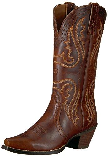 Ariat Women's Heritage Western R Toe Western Cowboy Boot, Distressed Brown, 9.5 B US