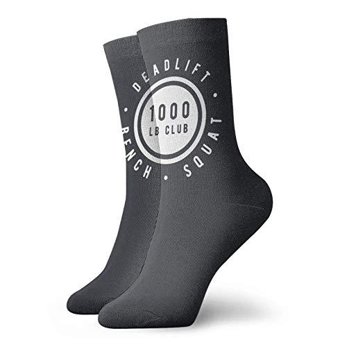 1000 LB Club Deadlift Squat Bench Mens Womens Soft Ankle Sos Funny Print Athletic Casual Crew Sos