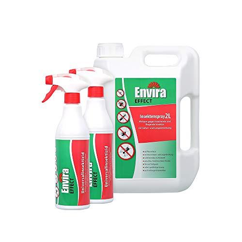 Envira Effect Universal-Insektizid - Insektenspray Mit Langzeitwirkung - Anti-Insekten-Mittel, Wasserbasis - 2Ltr + 2x500ml
