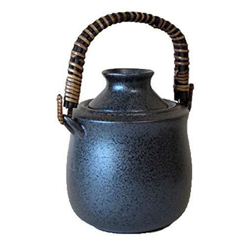酒燗器 手付き 黒結晶 【盃は別売り】お酒を適温に保つ徳利