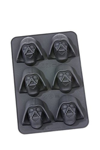 Gedalabels 20546 Moule à Muffin Star Wars-Darth Vader Noir, Silicone, 27 x 18 x 5,2 cm