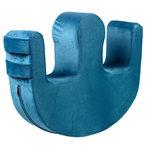 HLONGG Patientendrehvorrichtung Multifunktionale Drehgerät PU-Lederdrehvorrichtung für Patienten oder bettlägerige ältere Menschen, die im Bett liegen,Blau