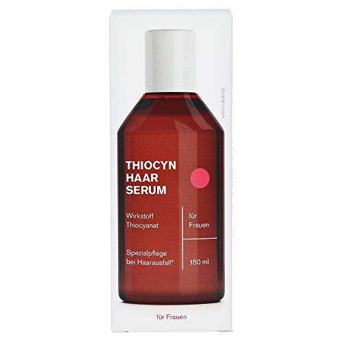 Thiocyn Haarserum ® gegen Haarausfall für Frauen | dermatest geprüftes Anti-Haarausfall Mittel | MADE IN GERMANY | hilft bei dünnem Haar in Wechseljahren | mehr Haarwachstum | 150 ml (1 Flasche)