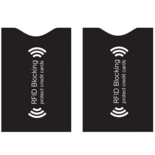 スキミング防止ケース カードケース RFID 保護 磁気防止 磁気スキミング防止 クレジットカード/ICカード干渉防止 読取エラー防止 予防対策ケース カードサイズ カードデータ保護 薄型 防水 10枚 (ブラック)