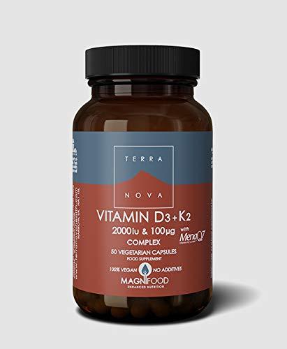 Terranova Vitamin D3 + K2 Complex - 2000iu & 100mcg - 50 Vegicaps