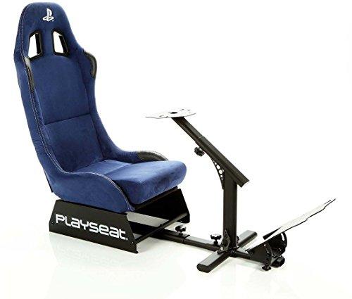 Playseat Evolution Playstation - Alcantara Bleu - RPS.00156 - Siège baquet sous licence officielle Playstation, compatible avec la plupart des volants et pédaliers du marché
