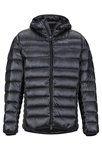 Marmot Herren Hype Down Hoody Ultra-leichte Daunenjacke, 800 Fill-Power, Warme Outdoorjacke Mit Kapuze, Wasserabweisend, Winddicht, Black, XL
