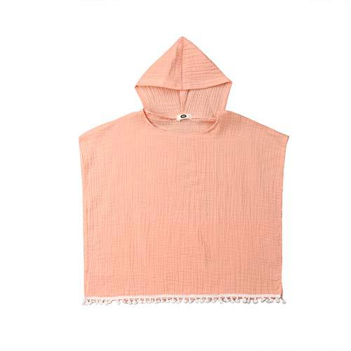 Geagodelia Baby Kapuzenhandtuch Badetuch mit Kapuze Bade Poncho Sommer Bademantel Cover Up Strandkleidung Mädchen Jungen (Pink, 1-2 Jahre)