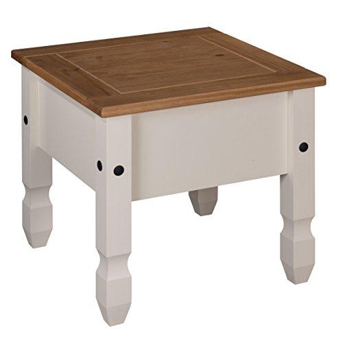 Mercers Furniture Corona Lampentisch, Holz, Cream/Antique Wax, 59 x 59 x 53 cm