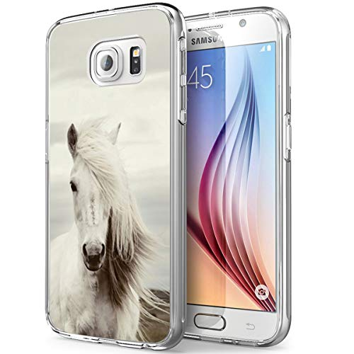 Gifun S7 Case Horse, Anti-Slide Soft TPU Protective Case Cover Compatible with Samsung Galaxy S7 - Fashionable Hair Horse