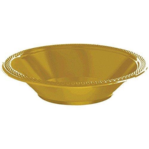 amscan 43034.03 kunststof schalen, geel Amerikanische Größe goud