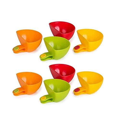 Dip Clips Dip Houders Tomatensaus Zout Azijn Suiker Ketchup Smaak Specerijen Dip Container Bowl Plate Houder Clip Tableware Supplies, 8 stks