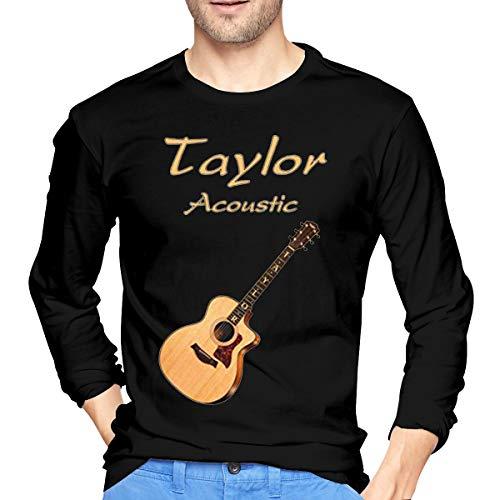 MusicQDog Mens Taylor Acoustic Guitars Casual Long Sleeve Shirt L
