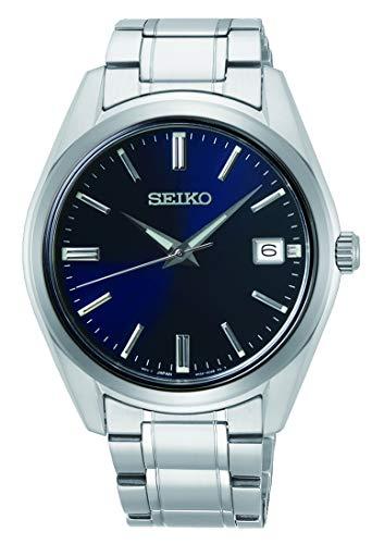 Seiko Herren Analoger Quarz Uhr mit Edelstahl Armband SUR309P1
