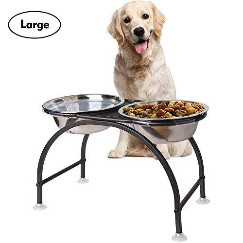 HomeMall Hundebar Hundenapf,Futternapf Napfständer Hundebar Hundnäpfe für Großer Hund (Großer Hund)
