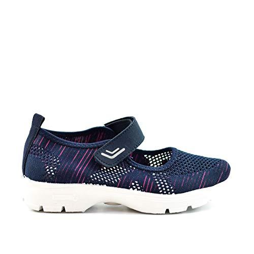 Zapatillas Deportivas Mujer Knit sin Cordones Super Adaptable Primavera Verano (Marino, 40