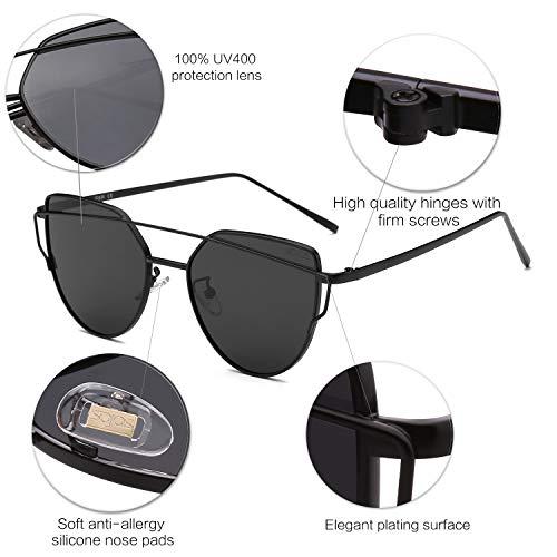 SOJOS Moda Occhiali da Sole Donna Specchiati
