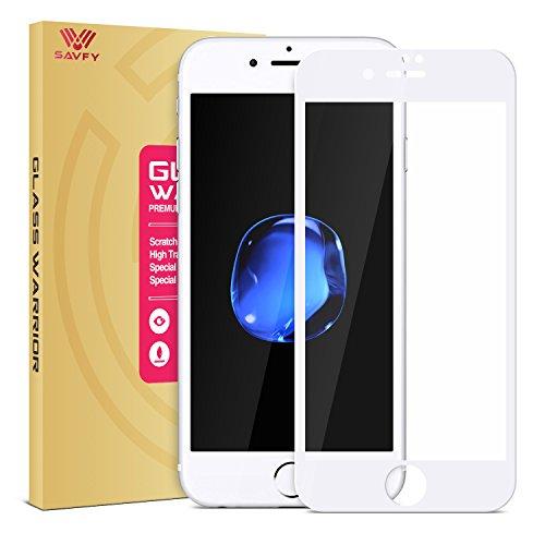 iPhone 7 Protector de Pantalla, SAVFY® 2.5D Pantalla Completa Vidrio Templado Protector de Pantalla [3D Touch Compatible] para Apple iPhone 7 Blanco