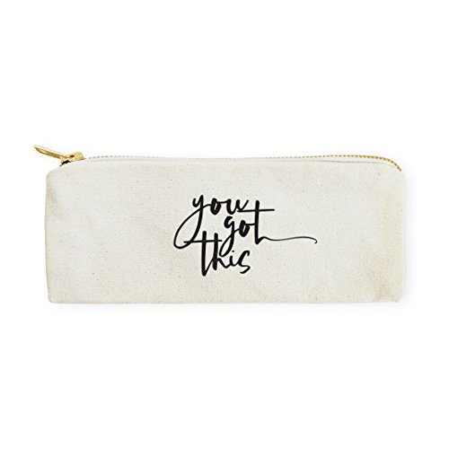 The Cotton & Canvas Co. You Got This Pencil Case, Cosmetic Case and Travel Pouch for Office and Back to School