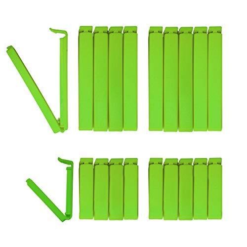 Tütenclips (20 Stück) Happiness Edition BUNEO   20 Beutelklammern: 10 x grün (11 cm) + 10 x grün (6 cm)