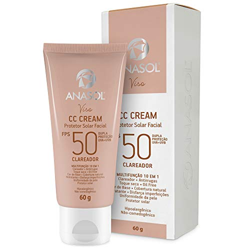 Anasol Cc Cream Protetor Solar Clareador Facial Fps50 60g