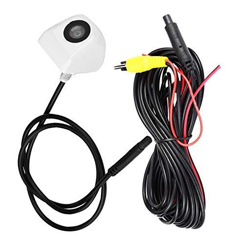 Hlyjoon Telecamera retromarcia Auto, 12V DC 170 gradi Telecamera per retromarcia per autoveicoli grandangolari Impermeabile Parcheggio Visione CCD universale per tutte le auto (bianco)