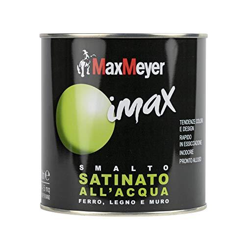 MaxMeyer Smalto satinato all'acqua per ferro e legno Imax VERDE LIME 0,5 L