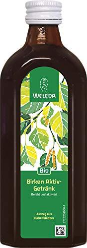 WELEDA Birken Aktiv-Getränk, Belebendes Birkenwasser zum Trinken, ohne Zucker für Diabetiker geeignet, mit Bio-Zitronensaft, 550 g