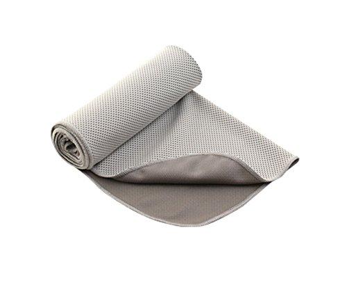 Elonglin Fraîche Serviette en Microfibre Cool Serviette de Refroidissement Séchage Rapide Absorbant Anti-UV Serviette de Bain Serviette de Sport pour la Plage Voyage Sports Gym Yoga Gris