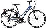 Bicicleta de trekking Kross Trans 4.0 azul/blanco brillante 2021